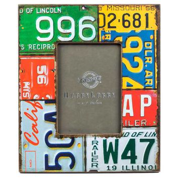 "5"" x 7"" Wood License Plate Photo Frame 