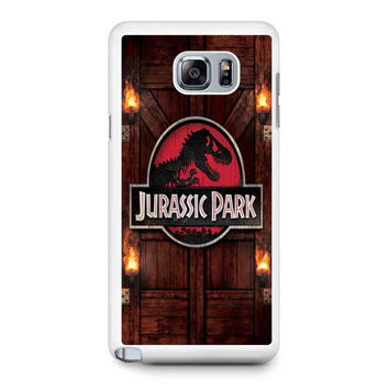 Jurassic Park Door Samsung Galaxy Note 5 Galaxy Note Edge Galaxy Note 4 Galaxy Note 3 Case