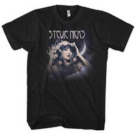 Stevie Nicks Tambourine Photo Mens Regular T Slim Fit T-shirt - Rockabilia