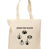 Choose Your Weapon Grocery Tote Bag