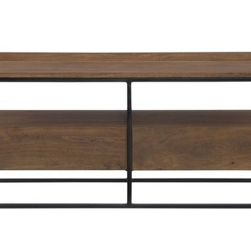 Vancouver Tv Stand Small Acacia Wood Iron