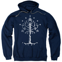 Lord of the Rings Tree of Gondor Navy Hooded Sweatshirt