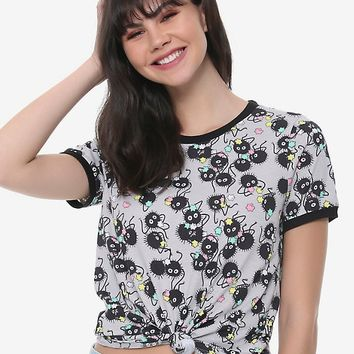 Her Universe Studio Ghibli Spirited Away Soot Sprites Girls Ringer T-Shirt