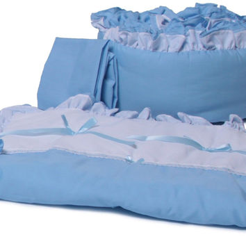 Baby Doll Bedding Regal Cradle Bedding Set Blue 530cr36