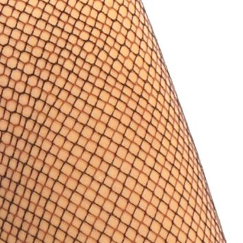 Deadstock Black & Brown Mix Fishnet Tights