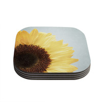 "Susannah Tucker ""Sunshine"" Sunflower Coasters (Set of 4)"