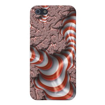 Abstract Trippy Candy Cane Stripe Case For iPhone SE/5/5S