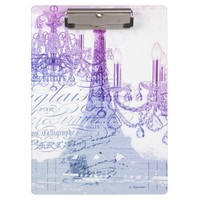 modern purple chandelier paris eiffel tower Clipboard