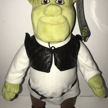 "DreamWorks 15"" Shrek Plush Toy New With Tags"