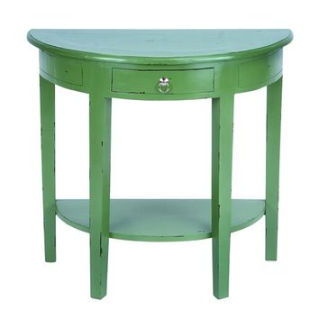 "A.M.B. Furniture & Design :: Accessories :: Misc. Accessories :: Elegant 30"" Wooden Console Table with Rich Green Finish"