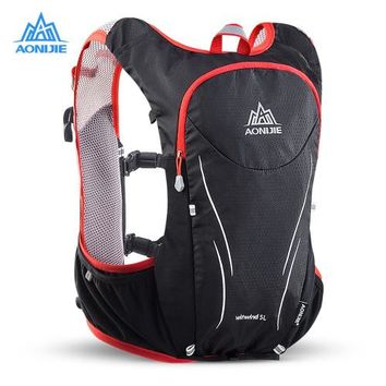 Sports gym bag AONIJIE 5L Upgraded Hydration Marathon Vest Pack for 2L Water Bag Trail Running Backpack Bag Outdoor Sports Reflective Backpack KO_5_1