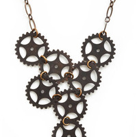Cogs of Time Necklace | Mod Retro Vintage Necklaces | ModCloth.com