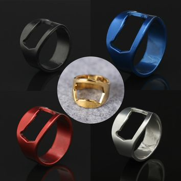 Stainless Steel Party Ring Bottle Opener(variety of colors and sizes)