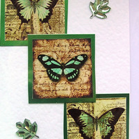 Butterfly Hand-Crafted Layered Card - Blank for any Occasion (1548)