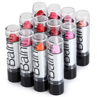 Long Lasting Lipstick 12 Pack Assorted Colors