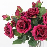 """Real Touch Rose Stem in Purple Pink 19"""" Tall (Set of 5)"""