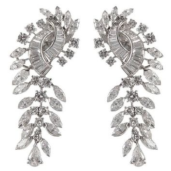Boucheron Diamond Gold Dangle Earrings