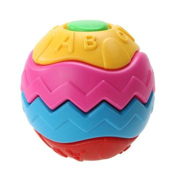 VONC1Y 9cm Funny Grasping Baby Infant Crawling Toy Ball Puzzle Deformation Disassemble Creative Assembled Puzzle Educational Toy