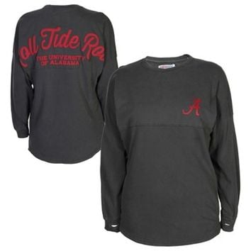 Alabama Crimson Tide Ladies Sweeper Long Sleeve T-Shirt - Charcoal