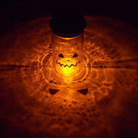 Solar Mason Jar Halloween Pumpkin Orange Outdoor Solar Light Decor Halloween Pumpkin Solar Light  Colored Solar Holiday Lighting Kerr Jar