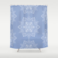 Winter Spirit - Blue Shower Curtain by Lisa Argyropoulos | Society6