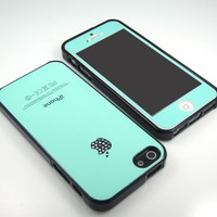 GNJ New Highest Mint swarovski gloss TPU case cover+color screen for iPhone 5 5G