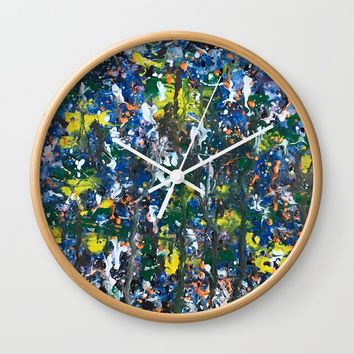 Color Splash Vibes Wall Clock by Artist CL