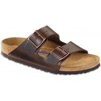 Arizona Sandal with Soft Footbed in Brown Amalfi Leather by Birkenstock