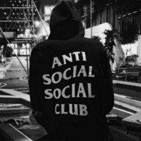 ANTI SOCIAL SOCIAL CLUB Casual Long-Sleeved Hooded Sweater