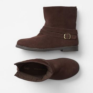 Gap Girls Suede Biker Boots