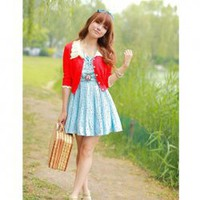 Super Cute Special Lace Lapel Single-Breasted Long Sleeves Mercerized Cotton Coat For Women China Wholesale - Sammydress.com