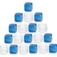 (30 Pack) ChefLand Reusable Plastic Ice Cubes *Plastic Cubes Won't Dilute Drinks*