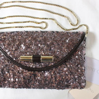 "~~~ PARTY ALL NIGHT ~~~ JIMMY CHOO ""LAVENDER SEQUIN"" CROSS BODY CLUTCH/BAG ~~~"