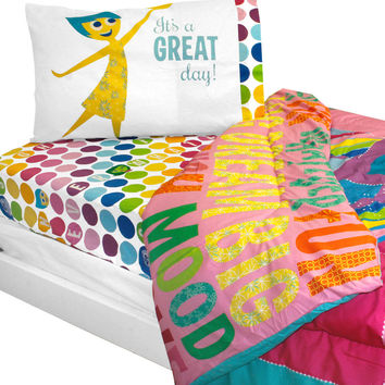 Inside Out Twin Bedding Set Rainbow Ombre Comforter Sheets