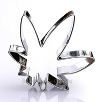 Marijuana Leaf Cookie Cutter- Stainless Steel - USA FREE Shipping