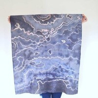 Hand Dyed and Printed Chalcedony Scarf | Little Paper Planes