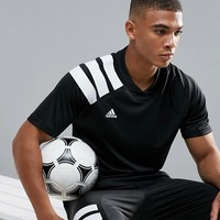 adidas Soccer Training T-Shirt With 90s Print In Black CD1084 at asos.com
