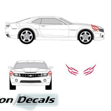 Chevy Camaro 2010 - 2013 Claw Marks Vinyl Decal Set