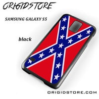 Rubber Confederate Rebel Flag For Samsung Galaxy S5 Case UY