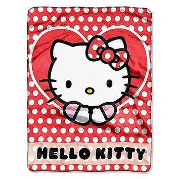 Hello Kitty Polka Dot Explosion 46x60 Silk Touch Throw