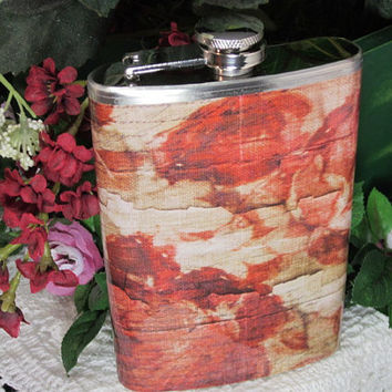 Hip Flask-Vintage Style Womans Flask-Wedding Favor-Bridesmaids Gift-Wedding Decor-Wine Flask-Liquor Flask-Shabby Chic