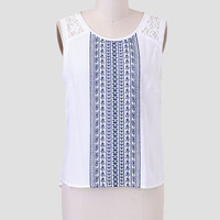 Observation Point Embroidered Top