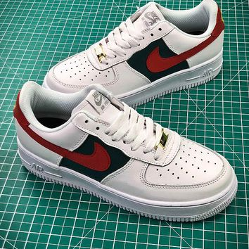 Nike Air Force 1 AF1 Low AH6511-999 White Green Red Sport Shoes - Best Online Sale