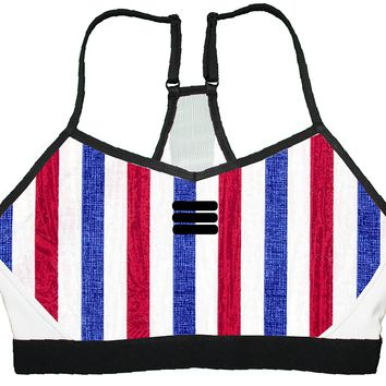 Sports Bra - American Stripes