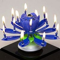 The Amazing Happy Birthday Candle - BLUE:Amazon:Home & Kitchen