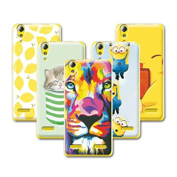 Fruit Art Print Painting Cat Minions Banana Prefect Case For Lenovo A 6010 A6010 Cover Lenovo A6010 5.0 inch+Stylus Gift