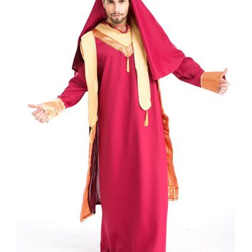 MOONIGHT New Arrival Arab Prince King Clothes For Men Halloween Party Fancy Costume Cosplay Costume