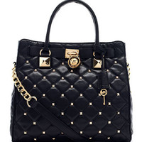 MICHAEL Michael Kors  Large Hamilton Studded Quilted Tote - Michael Kors