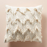 Fringed Chevron Pillow