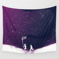 Starfield - Purple Wall Tapestry by Budi Satria Kwan